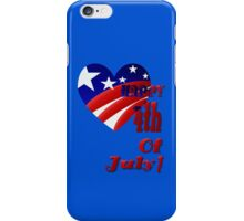 Great American 4th Of July iPhone Case/Skin