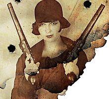 Louise Brooks  and her guns by PrivateVices