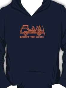 Respect The Locals - Orange Print T-Shirt