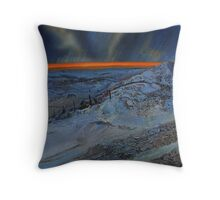 Snow at dusk on the Dales Throw Pillow