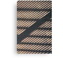 Shadow Grid Canvas Print
