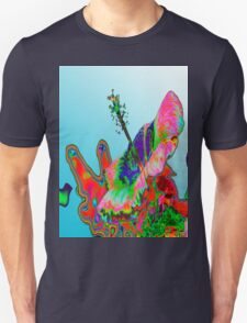 Psychedelic Pink Hibiscus T Unisex T-Shirt