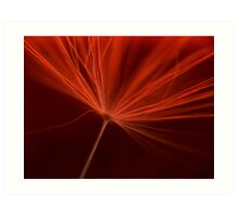 Charged in Red One Art Print