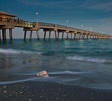Pier at Sunset by Rachelle Vance