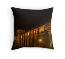 Winchester Cathedral at Night 1 Throw Pillow