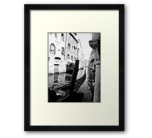 Venice black and white Framed Print
