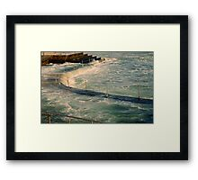 sea,rail,curve Framed Print