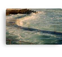 sea,rail,curve Canvas Print