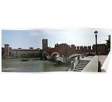 Bridge and castle in Verona Poster