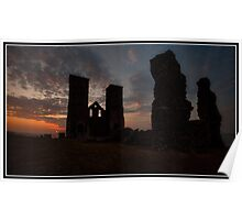 Last light at Reculver Castle Poster