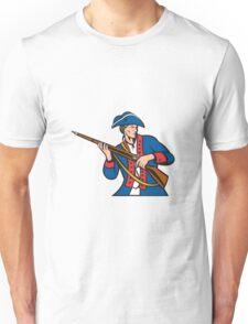 American Patriot Militia Musket Retro Unisex T-Shirt