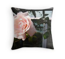 Heads above the Rest Rose Throw Pillow