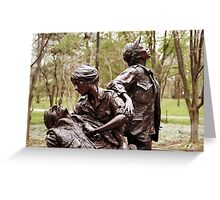 Vietnam Woman's Memorial 4 Greeting Card