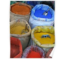 Bags With colorfull pigments Poster