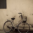 bike on a wall by rosscaughers