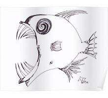 Crazy Fish Poster