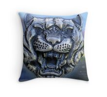 Dare the Cat to Purr!! Throw Pillow