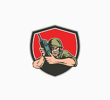 World War Two American Soldier Field Radio Shield Unisex T-Shirt