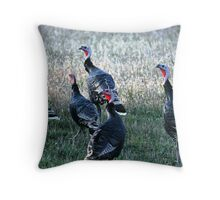 Turkeys-Maxwell Throw Pillow