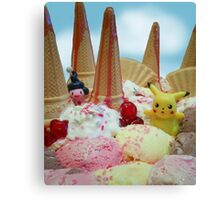 Pokemon Ice cream land Canvas Print