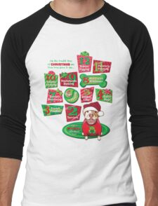12 Dogs of Christmas Men's Baseball ¾ T-Shirt