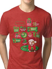 12 Dogs of Christmas Tri-blend T-Shirt