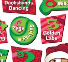 12 Dogs of Christmas Sticker