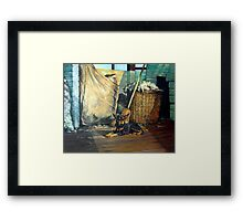 The Master of the Shed - Australian Kelpie series Framed Print