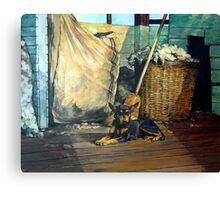 The Master of the Shed - Australian Kelpie series Canvas Print