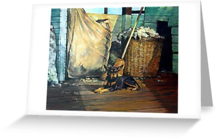 The Master of the Shed - Australian Kelpie series by Tanya Zaadstra