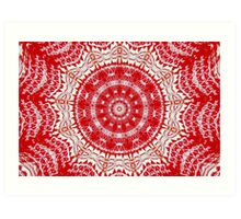 Red Kaleidoscope Art Print