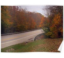 Autumn on the Highway Poster