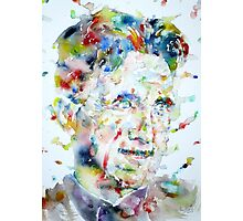 GEORGE ORWELL - watercolor portrait.3 Photographic Print