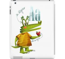 A is for alligator with an apple iPad Case/Skin