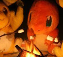 Pokemon Autumn Campfire Sticker