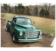 Studebaker Truck: Put Out to Pasture .... 'til the Next Ride Poster