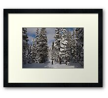 Nordic Skiing after snowfall Framed Print
