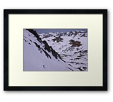 East Side Sierra Spring Skiing Framed Print