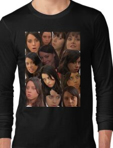 April Ludgate Collage Long Sleeve T-Shirt