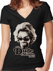 Big Lebowski Women's Fitted V-Neck T-Shirt