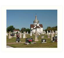 Holy Trinity Ukrainian Catholic church, Smoky Lake, AB Art Print