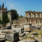 View of the Library of Celcus, Ephesus, Turkey by Johannes  Huntjens