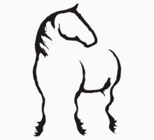PH Horse - black by Michelle Garrison