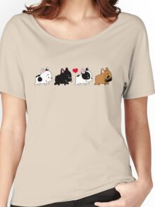 Frenchie Familly Women's Relaxed Fit T-Shirt