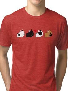 Frenchie Familly Tri-blend T-Shirt