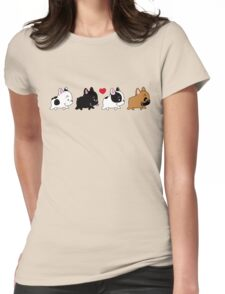 Frenchie Familly Womens Fitted T-Shirt