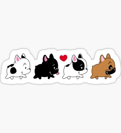 Frenchie Familly Sticker