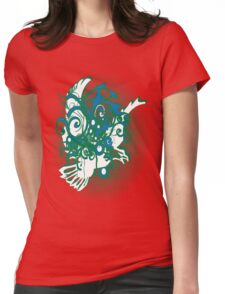 swirling eagle in sunset Womens Fitted T-Shirt