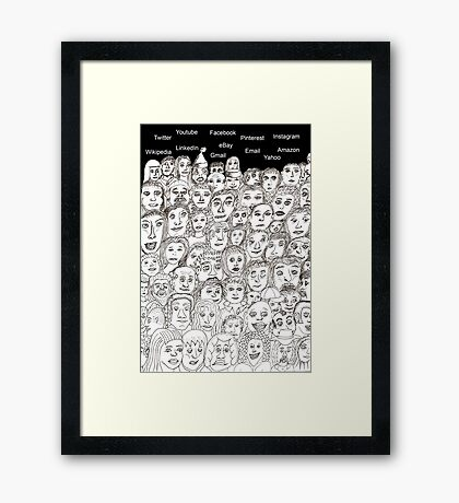 Mass Communication Framed Print