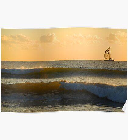 Liquid Gold - Moreton Bay Poster